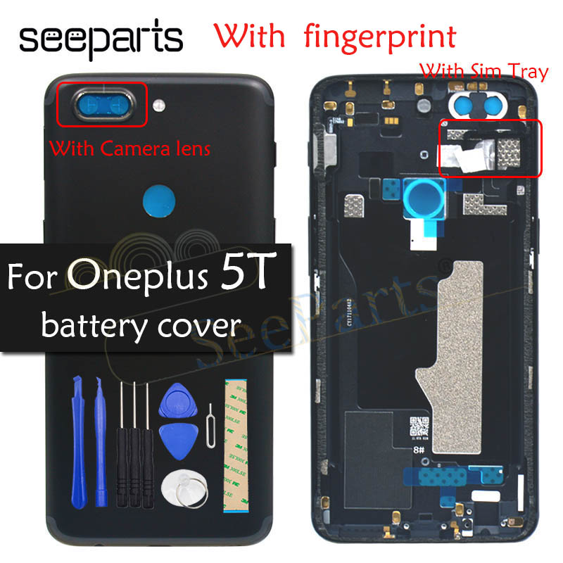 Original Back Housing OnePlus A5010 5T Battery Cover Rear Door Housing Case One Plus Replacement OnePlus 5T Battery Cover