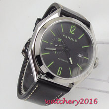 43mm PARNIS Automatic Watch Luminous Hands Mechanical Watches Classic Men Top Brand Luxury Sapphire Glass Gifts for