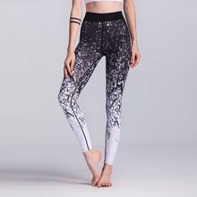 2019 Ladies Yoga Leggings Fitness Digital Print Black Slim Long Gym Pants Women S M L XL High Waist Sexy Running Tights