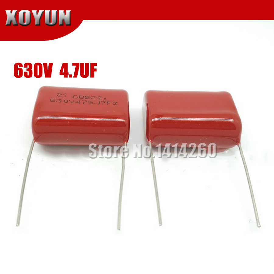 5pcs/lot 630V475 4.7UF Pitch 30MM 630V 475 CBB Polypropylene Film Capacitor