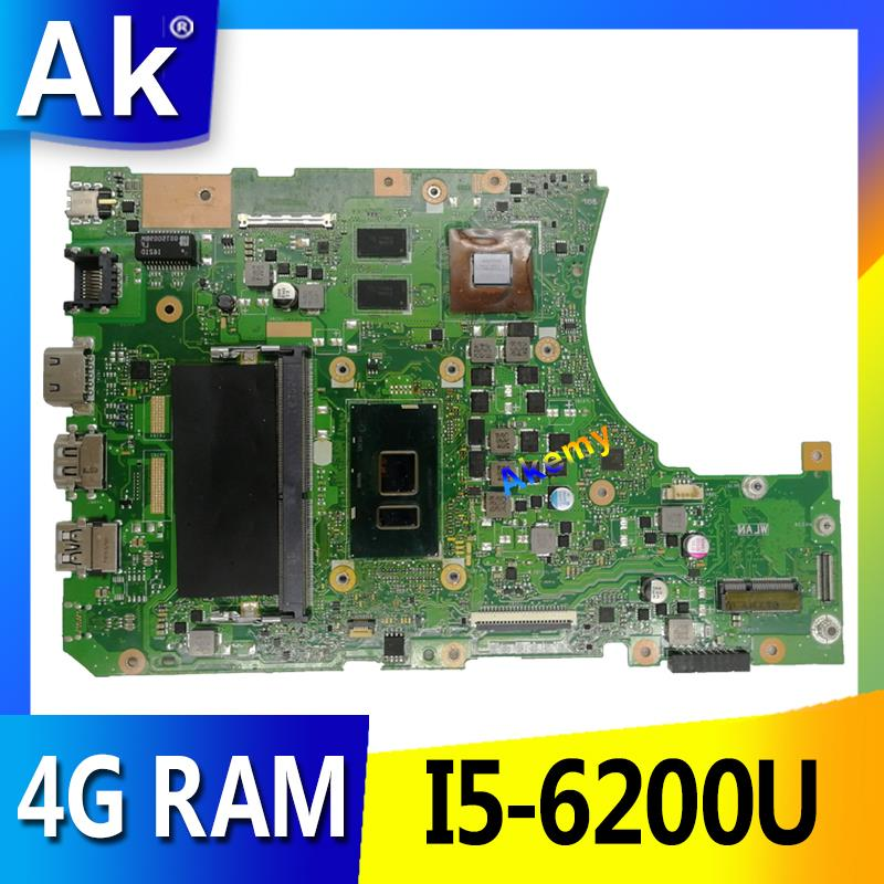 For X456U X456UQ X456UB A456U X456UJ Motherboard i7-6500U CPU 4GB GT920M DDR3