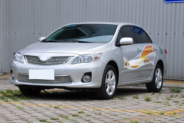 For Toyota Corolla 2012 2013 ABS Chromium Front bumper Car Trim Grilles Center Grill Grille Cover Trim Racing Grills Trims 2pcs