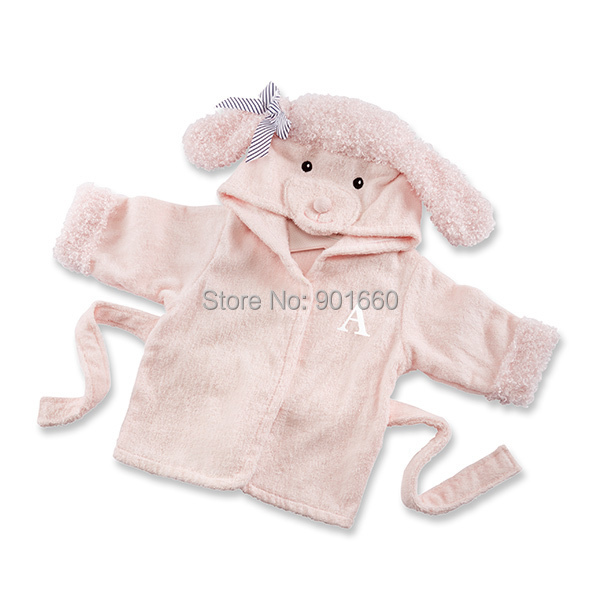 Pink Poodle Baby Boy Girl Dressing Gown Splash Wrap Bath Hooded ...