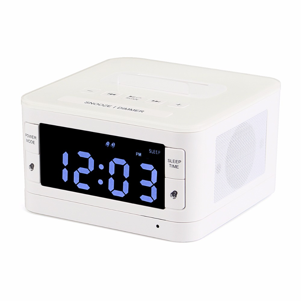 Bluetooth Alarm Clock Radio FM Tabletop Digital Radio Receiver USB Speaker  With Sleep Time Remote Control AUX Music Player Y4435 In Radio From  Consumer ...