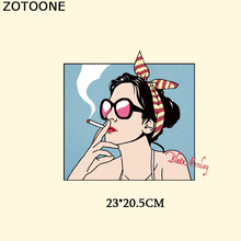 ZOTOONE Fashion Girl Letter Patch Iron On Transfers For Clothing T-shirt Dresses Stickers Heat Press DIY Appliqued Printing