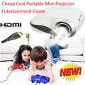 2016 новый дешевой цене прочный портативный мини Proyector tft-hdmi USB VGA SD Comaptaible телефон игры PS Xbox Projecteur