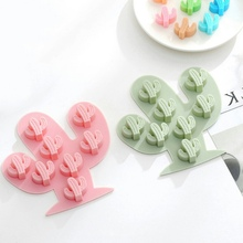 2019 Cactus Silicone Cake Mold Manual DIY Chocolate Mold Baking Mold Ice Mold For Kitchen Baking Cake Tool цена