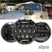 Paire de clignotants à faisceau de mer de 7 pouces, Halo, pour Mazda Miata MX5 1990 – 1997, Lada 4x4 urban Niva pour Hummer H1 H2