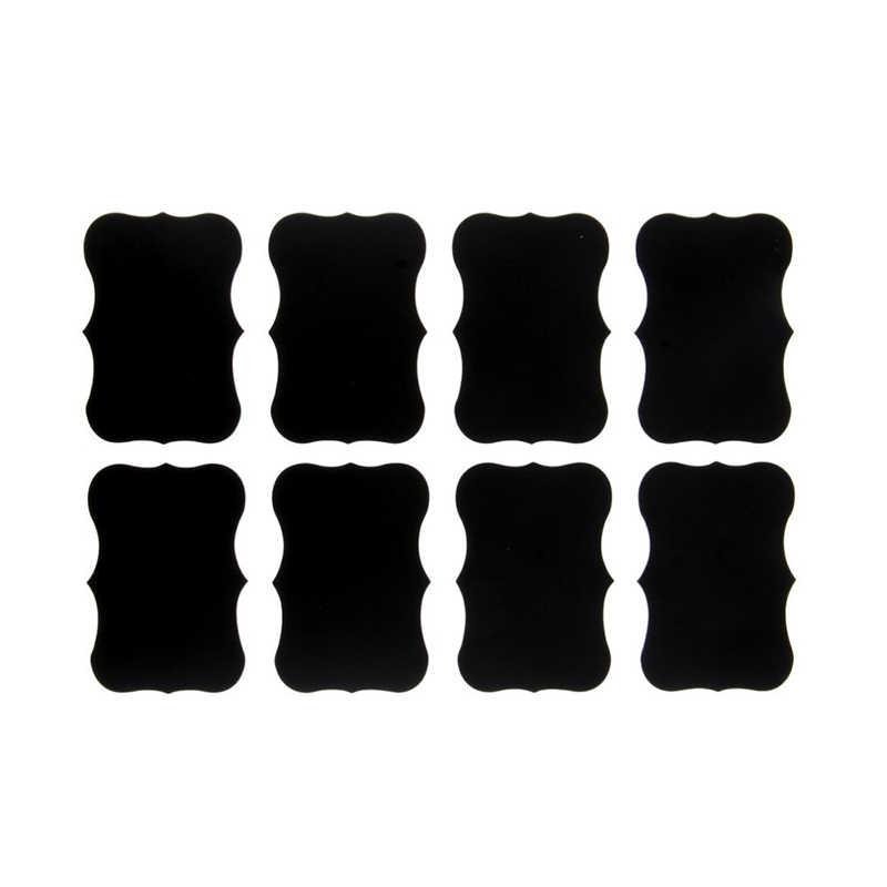 36Pcs מפואר שחור לוח מטבח צנצנת ריבה תווית תוויות מדבקות 5cm X 3.5cm דקור לוח קיר מדבקה מקרר מדבקה