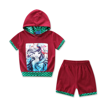 Toddler Infant Kid Baby Girl Boy Clothes Set Hooded Tops Short Pants 2Pcs Outfits Set Summer Cotton Sportswear