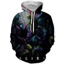 PLstar Cosmos Drop Shipping 2019 New Decoding the Alien Covenant 3d Printed Hoodie For Women Men Sweatshirt outwear Tops