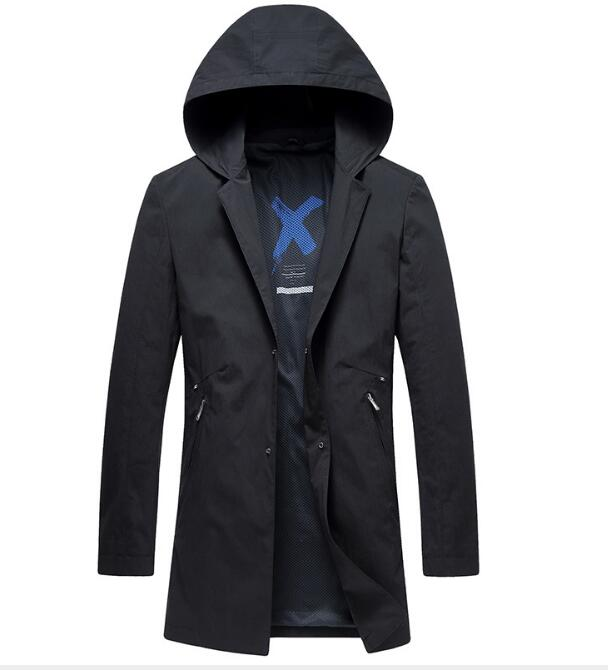 2019 New High quality Classic Trench Coat Men Leisure Windbreak Slim Wind Coat Zipper Dust Coat Size M 3XL