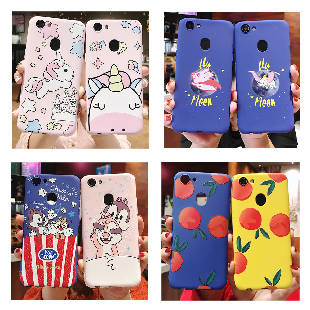 Flying Elephant Phone Case For OPPO A3S 33 37 39 57 A5 A7 59 83 Cartoon Unicorn Soft Silicon Cover for R9S 11S Plus R15X Pro R17