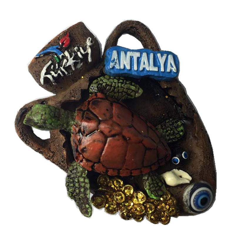 Turkey Antalya Turtle 3D Fridge Magnet Travel Souvenirs Creative Home Decoration Refrigerator Magnetic Stickers Gift