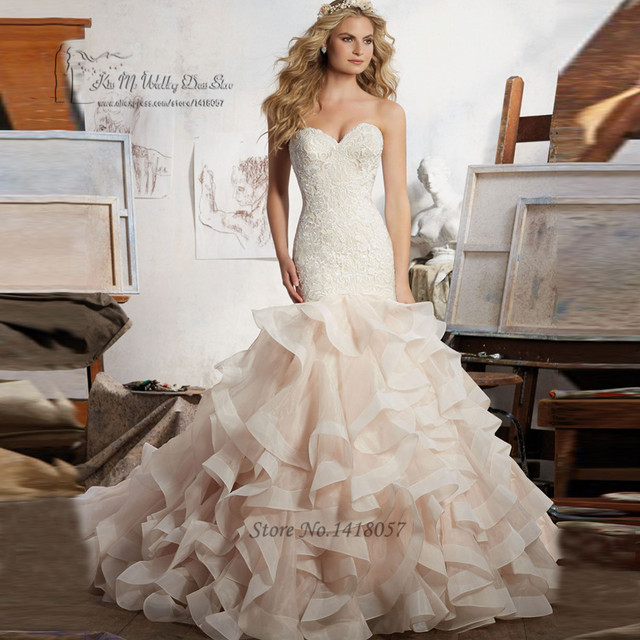 Buy designer mermaid wedding dress for Western vintage wedding dresses