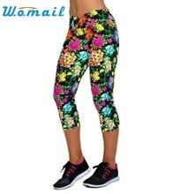 CharmDemon 2016 High Waist Fitness Pants Printed Stretch Cropped Leggings jy7