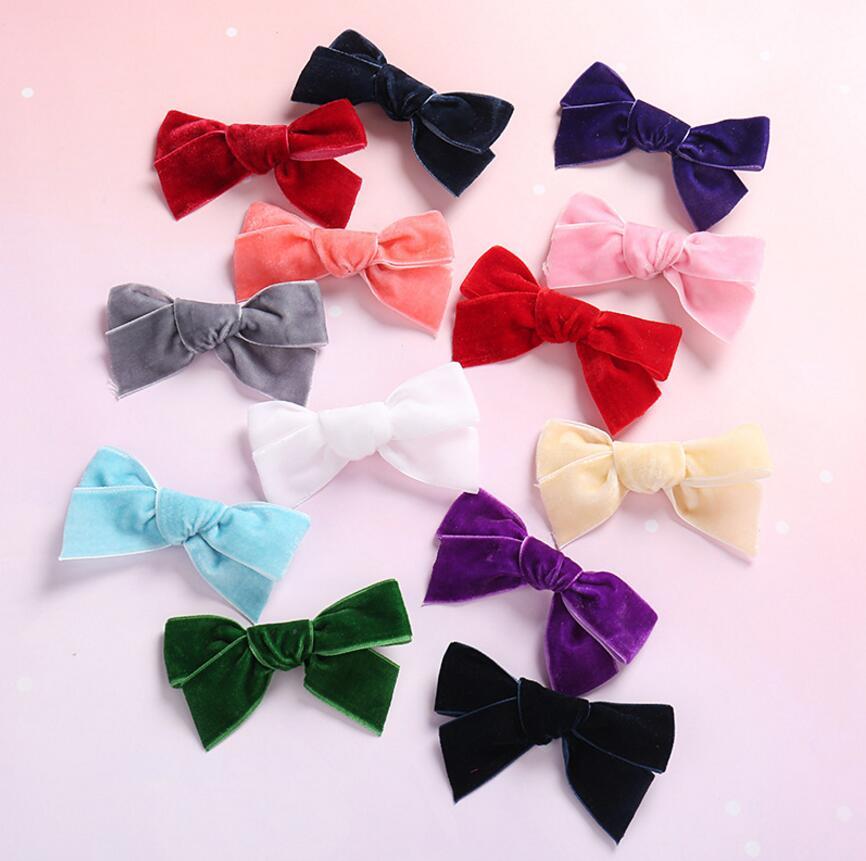 velvet bow baby headband nylon