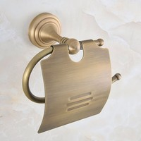 Bathroom Accessory Vintage Retro Antique Brass Wall Mounted Toilet Paper Roll Holder aba726
