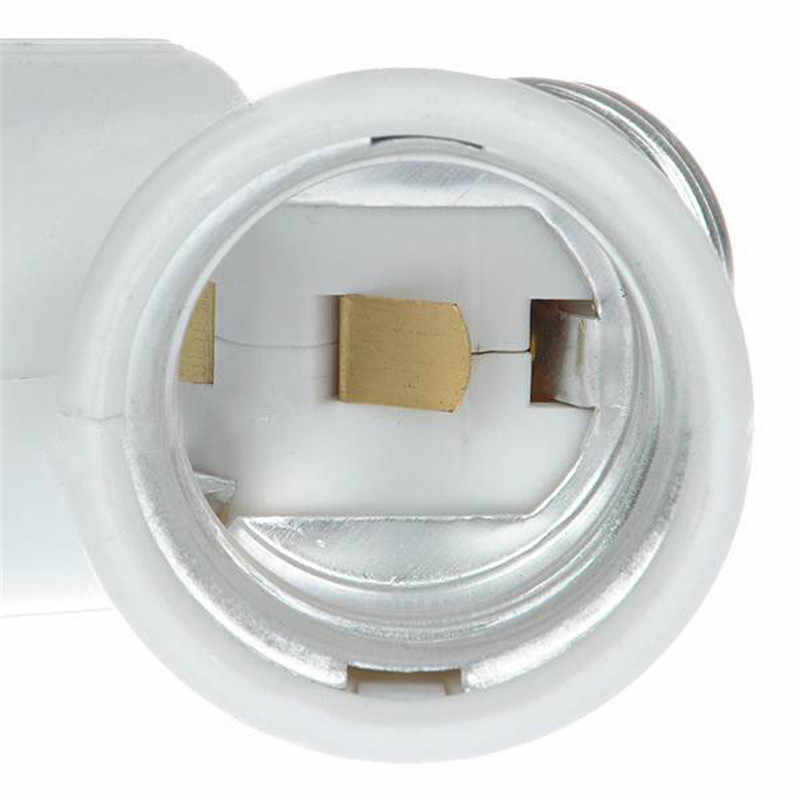 Dual E27 Lamp Holder Bulb Holder Double Socket Base Extend Splitter Plug Halogen Light Lamp Copper Contact Adapter Converter