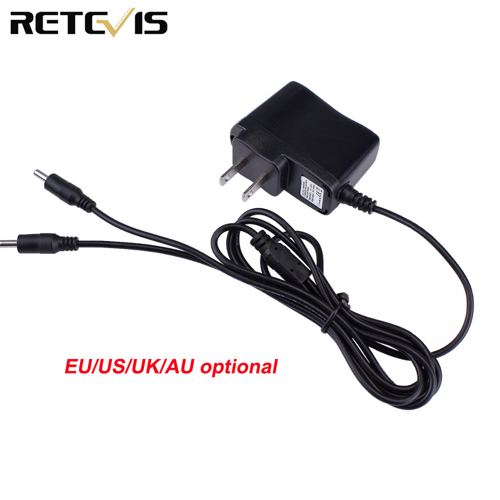 2 In 1 Charger Input 110-240V Output 5V 1A AC Adapter Charger For Retevis RT628 Kids Walkie Talkie  J1026E