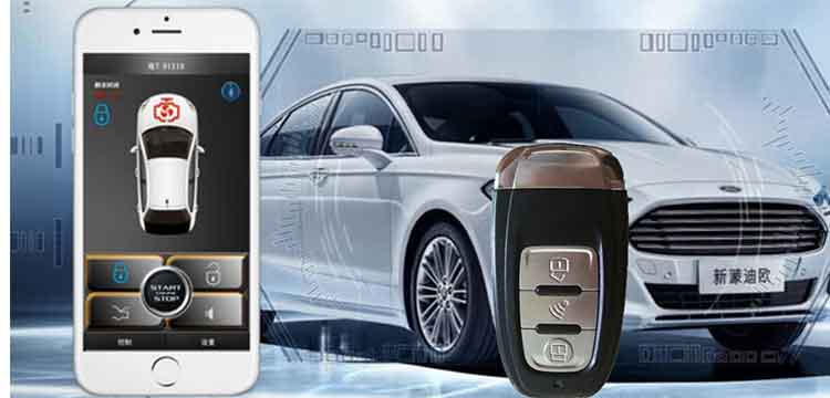 Alarm Systems & Security For Audi Smartphone Remote Car Alarm System Central Lock Ios/android Mobile App Open Trunk Pke Engine Keyless Start Stop Kit