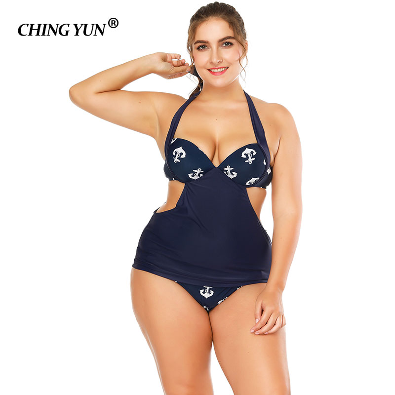 a521a7f73b 2018 Hot big size women swimwear sexy Monokini swimsuit One Piece Halter  printed large Bathing Suit Beachwear ladies beachwear-in Body Suits from  Sports ...