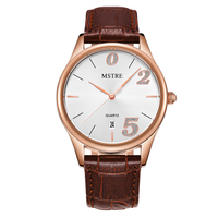 Quartz Watch Couples Watches Steel Mesh Leather Band Casual Waterproof Lover Watch Auto Date Fashion Watch for Men and Women