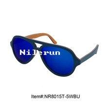 light pilot style blue skateboard wood sunglasses