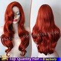 26 inch Синтетические Кружева парики красный лолита парик ombre объемная волна волосы стиль Косплей синтетический парик женщин парик Тепла устойчивостью