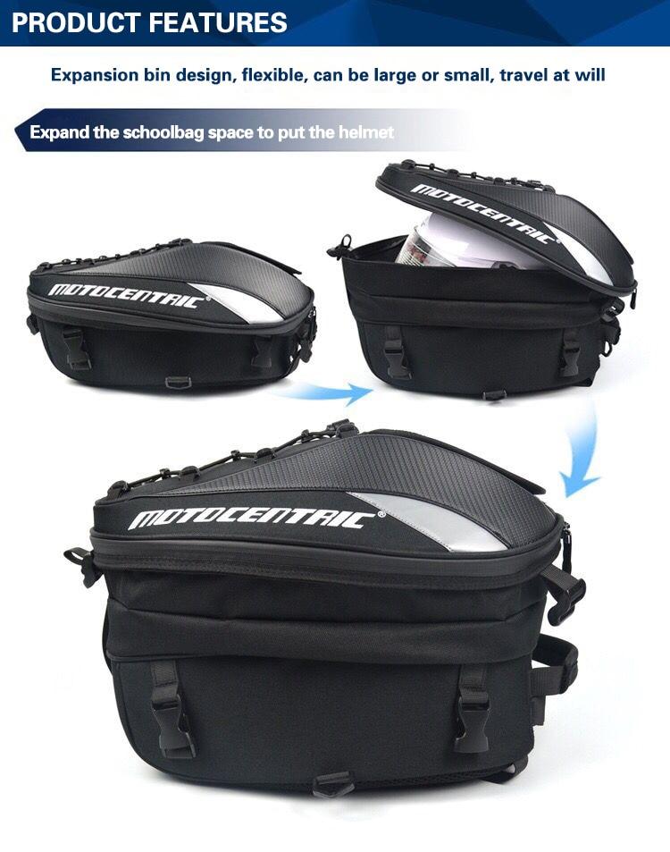 Brand New Waterproof Motorcycle Tail Bag Multifunction Motorcycle Rear Back Seat Bag High Capacity Motorcycle Rider Backpack 5