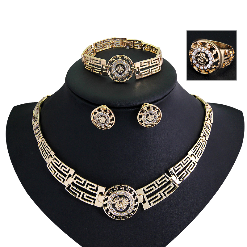 African Jewelry Sets Gold...