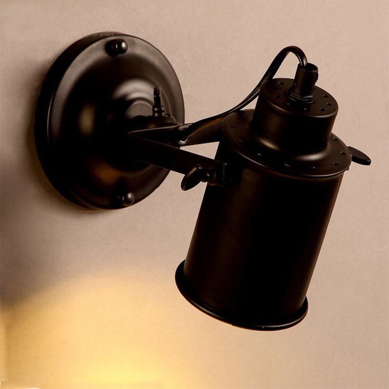 New retro sconce wall lamp light with led bulb for stairs bedroom hallway outdoor led wall light vintage lighting fixtures,black american vintage wall lamp for indoor outdoor lighting retro industry wall lights with edison bulb for bedroom black 220v e27