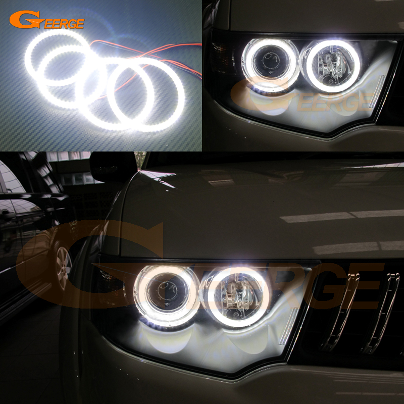 все цены на  For Mitsubishi Challenger Pajero Sport 2008-2014 Excellent angel eyes Ultra bright illumination smd led Angel Eyes Halo Ring kit  онлайн