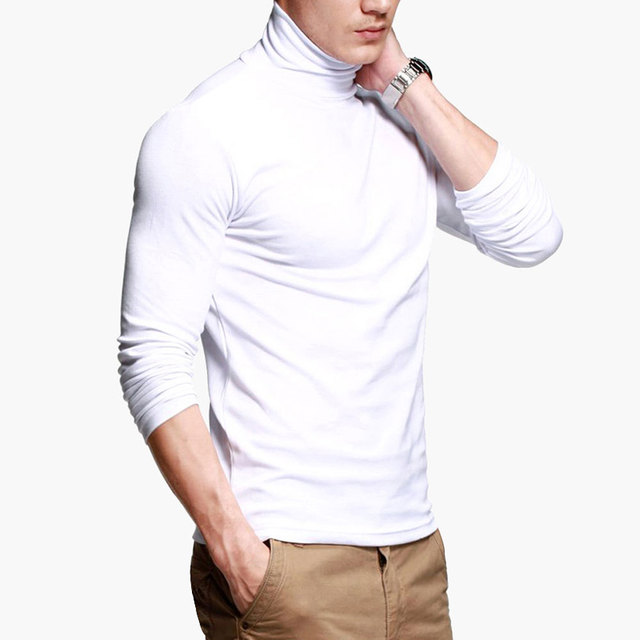 2020 Fashion Mens Casual T-Shirts Long Sleeve Brand Clothing Man Slim Fit Clothes Male Wear Tops Tees Plus Size XXXL