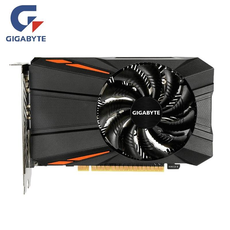 Carte graphique GIGABYTE GTX 1050Ti 4 go GPU 128Bit pour carte vidéo nVIDIA Geforce GTX1050 Ti Hdmi VGA carte GDDR5