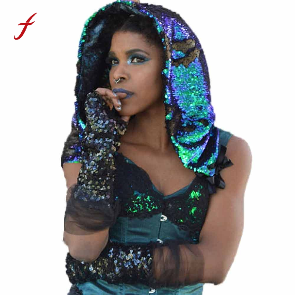 2017 fashion Unisex Sequins Hat Shimmer Sequin Matte Black Reversible Hood hat women men Patchwork Casual onyx nite new black women s large l a line shimmer sequin lining skirt $59 460