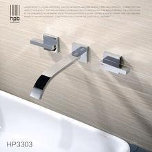 Блаватская Широкое Современная ванная бассейна Раковина Водопад кран настенный смесителя горячей and холодной воде HP3303