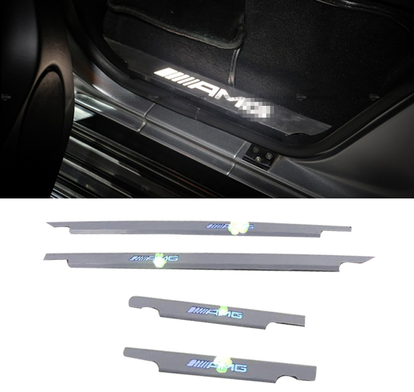 HIGH Quality Led Scuff Plate Welcome pedal 4pcs/set Car Led moving door scuff car pedal door light Fit for G500 G63 G55 G65