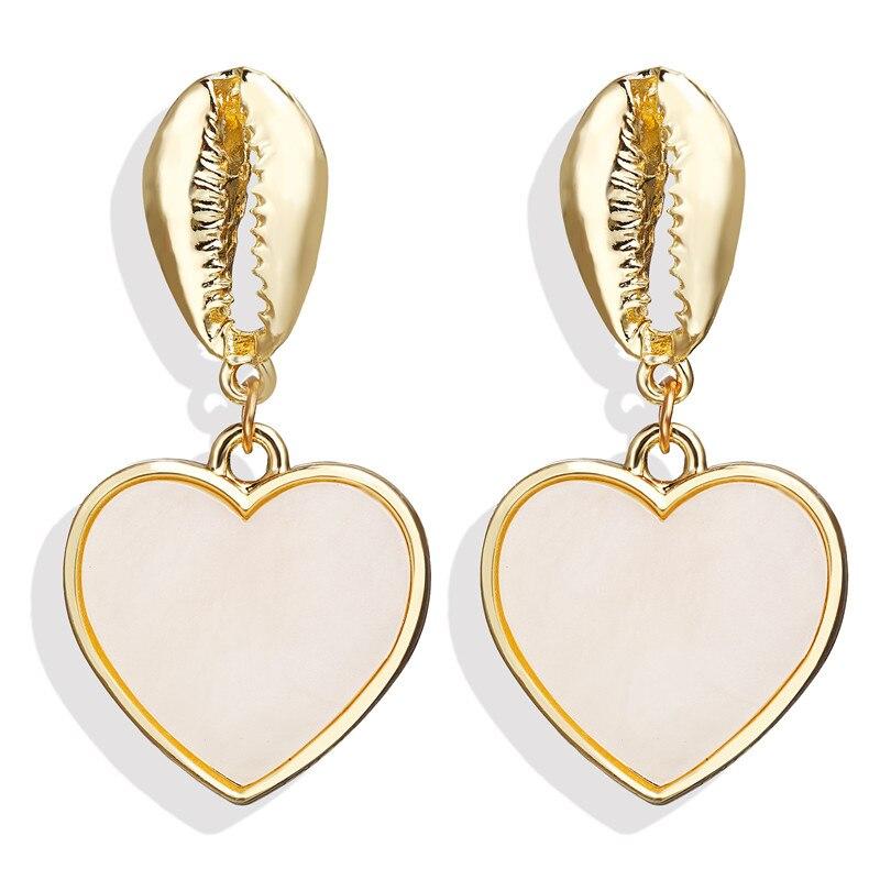 Vintage Earrings 2019 Geometric Shell Earrings For Women Girls BOHO Resin Drop Earrings Brincos Fashion Tortoise Jewelry 11