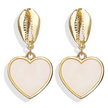 Geometric Shell Earrings For Women Earrings Jewelry Women Jewelry Metal Color: CS190705083