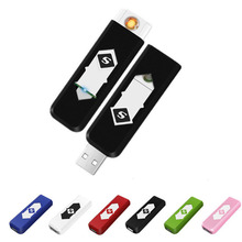 USB Windproof Car Cigarette Lighter Windproof Nice USB Smokeless Flameless Charging Lighter Electronic Cigarette Lighters цена