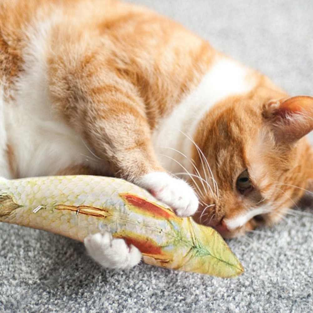 Плюшевая креативная 3D карповая Рыбка Форма кошка игрушка в подарок милая имитация рыбы играющая игрушка для домашних животных подарки кошачья рыба мягкая подушка кукла
