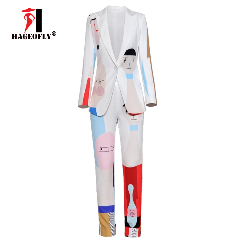Image 4 - New Designer High Quality Runway White Two piece Suit One Button 