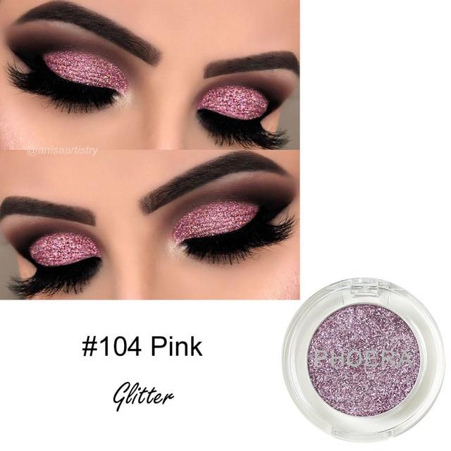 Nueva paleta de sombras de ojos de brillo de marca PHOERA impermeable mate maquillaje sombra de ojos paleta de pigmentos en polvo sobras 12 colores TSLM1