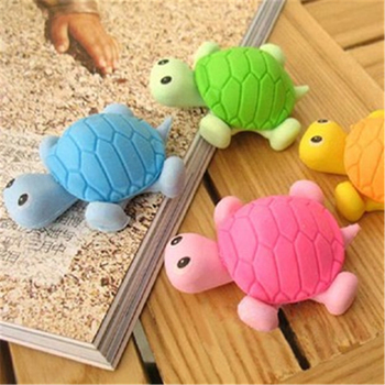 DL Korean cute little turtle stationery creative simulation animal rubber eraser Trolltech image