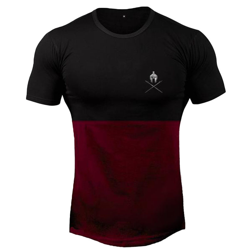 2019 Mens Summer Gyms Fitness Brand T-shirt  Bodybuilding Slim Shirts Printed O-neck Short Sleeves Cotton Tee Tops
