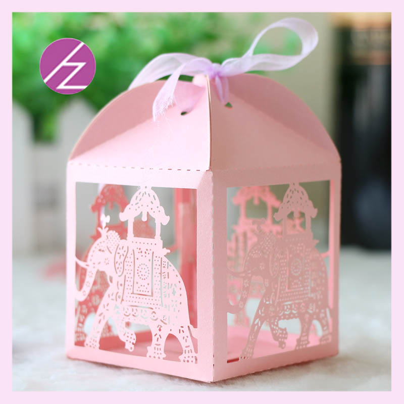100pcs laser cut elephant design kids party supply laser cut cute 100pcs laser cut elephant design kids party supply laser cut cute wedding baby shower gift box for souvenirs india style th 67 in gift bags wrapping junglespirit Image collections