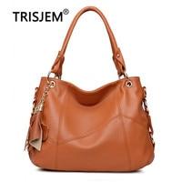 TRISJEM brand Women Leather Handbags Women Messenger Bags Designer Crossbody Bag Women Tote Shoulder Bag Top handle Bags Vintage
