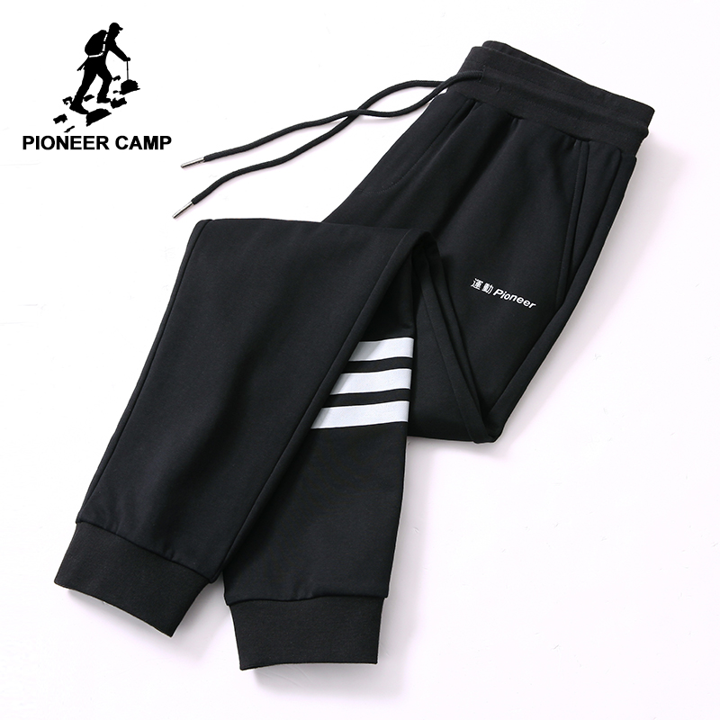 Pioneer camp new spring sweatpants men brand clothing white shipted knitted pants for men quality joggers male black AZZ801231