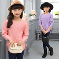 2017 Fall Winter Teenage Girls Fashion Pearls Knitted Sweaters Children's Clothing Pullovers Kids Casual Beading Knitwear G902